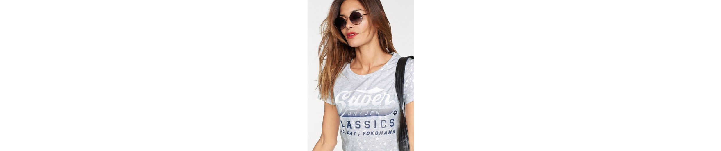 Superdry STAR CLASSIC CLASSIC ENTRY ENTRY mit STAR Logo Logo Print TEE TEE Rundhalsshirt Superdry mit Rundhalsshirt CCvq0aw