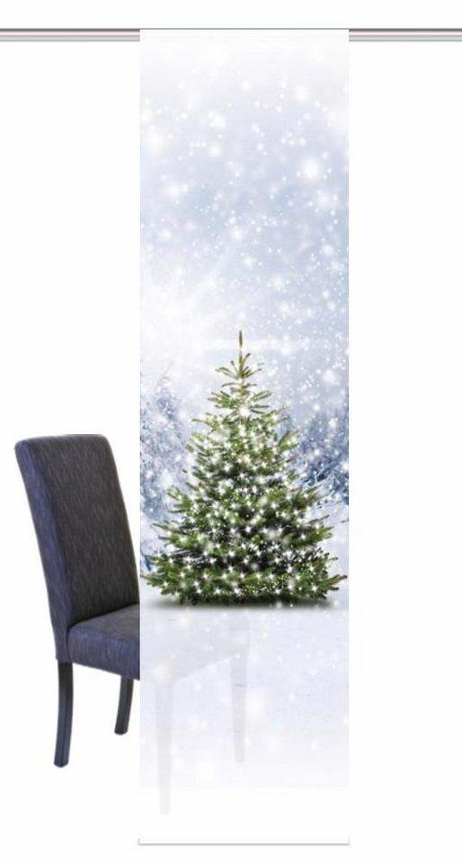 Schiebegardine weihnachtsbaum home wohnideen klettband 1 st ck inkl befestigungszubeh r - Schiebegardine weihnachten ...