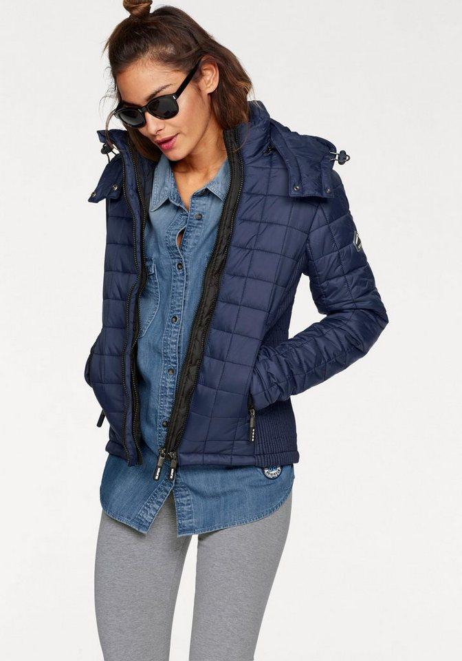 Superdry Steppjacke 187 Hooded Box Quilt Fuji Jacket 171 Mit