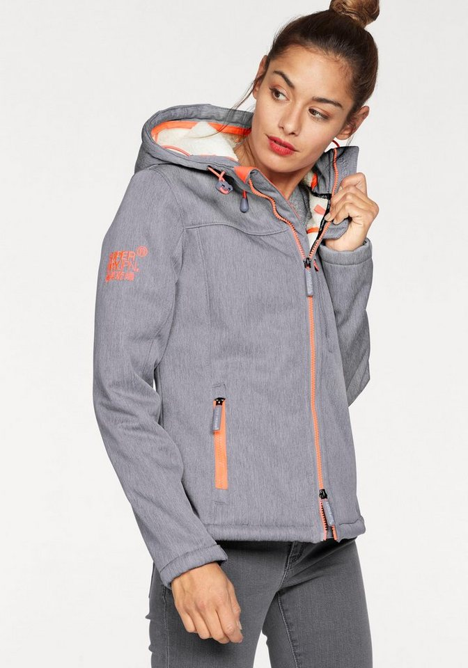 superdry winterjacke hooded sherpa windtrekker mit. Black Bedroom Furniture Sets. Home Design Ideas