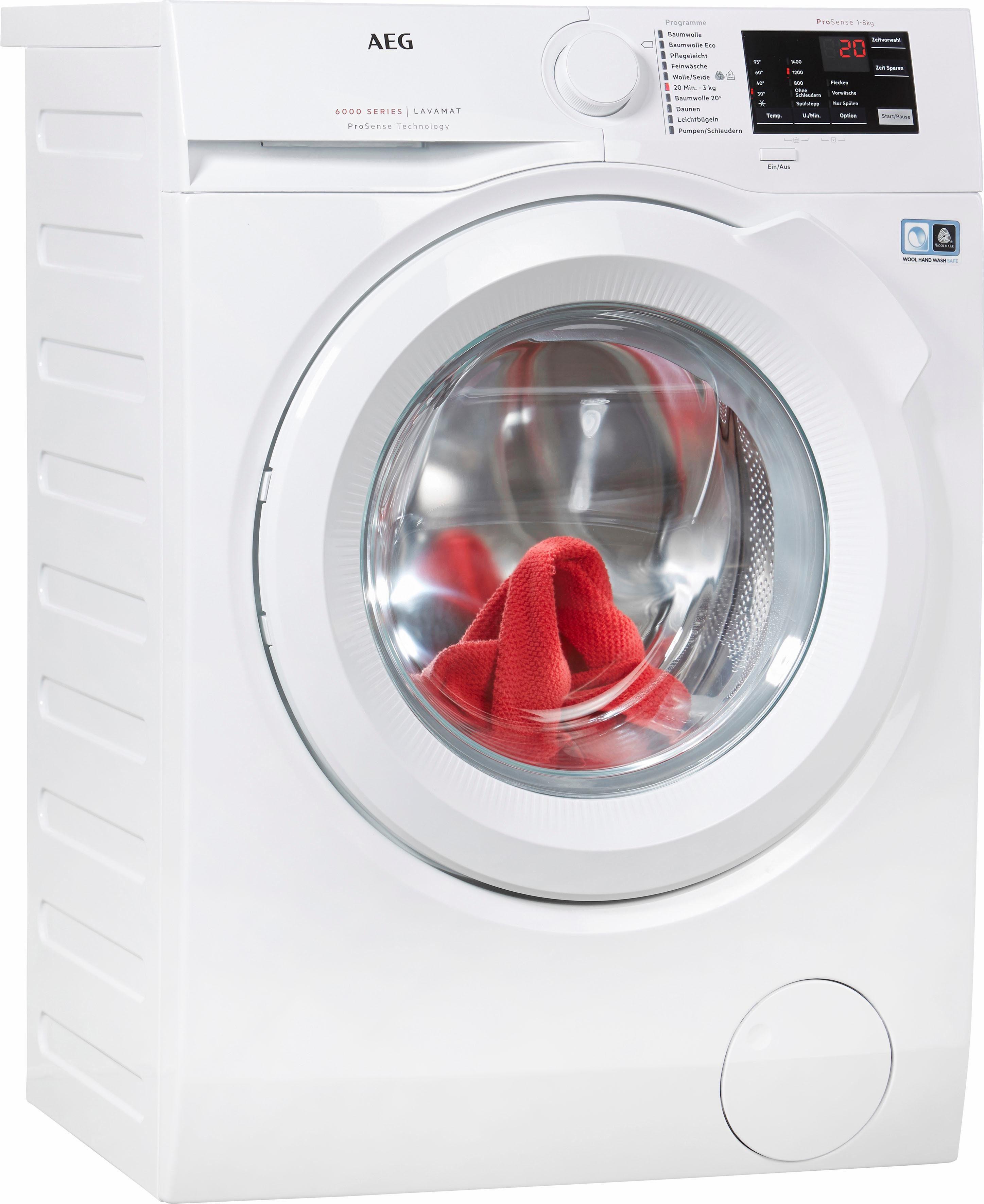 AEG Waschmaschine LAVAMAT L6FB54480, 8 kg, 1400 U/Min