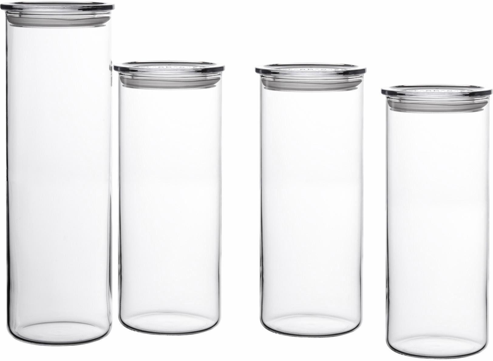 SIMAX Vorratsgläser-Set, Borosilikatglas, 4 Teile