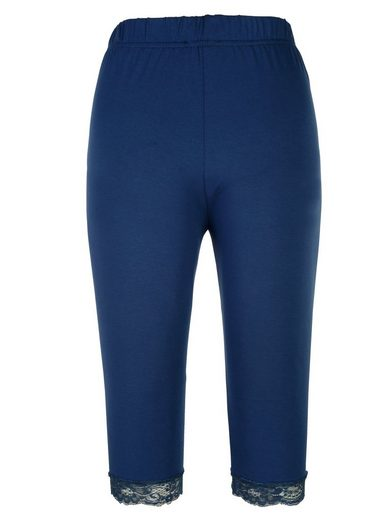 Miamoda Cyclists Leggings With Elastic Lace At The Hem