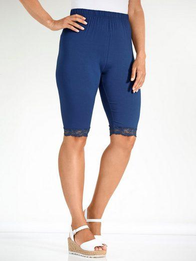 MIAMODA Radler-Leggings mit elastischer Spitze am Saum