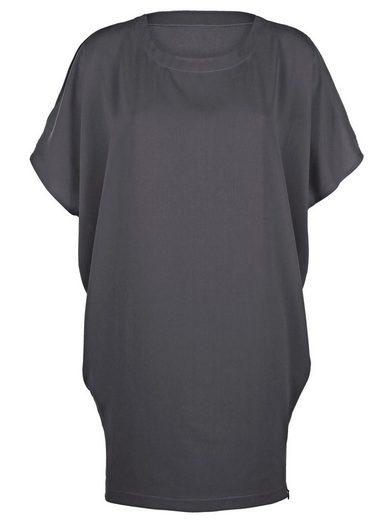 Alba Moda Oversized-Kleid mit modisch geschlitzter Schulterpartie