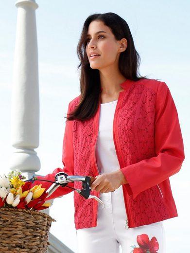 Paola Blazer mit Blumenlochstickerei