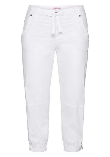 Sheego Casual 7/8 Trousers, Cuffs With Button