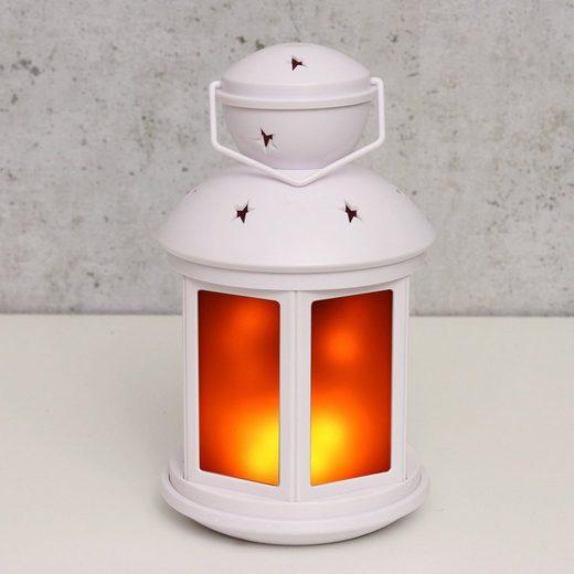 MARELIDA LED Laterne »LED - weiß - Bewegter Flammeneffekt - Batteriebetrieb«