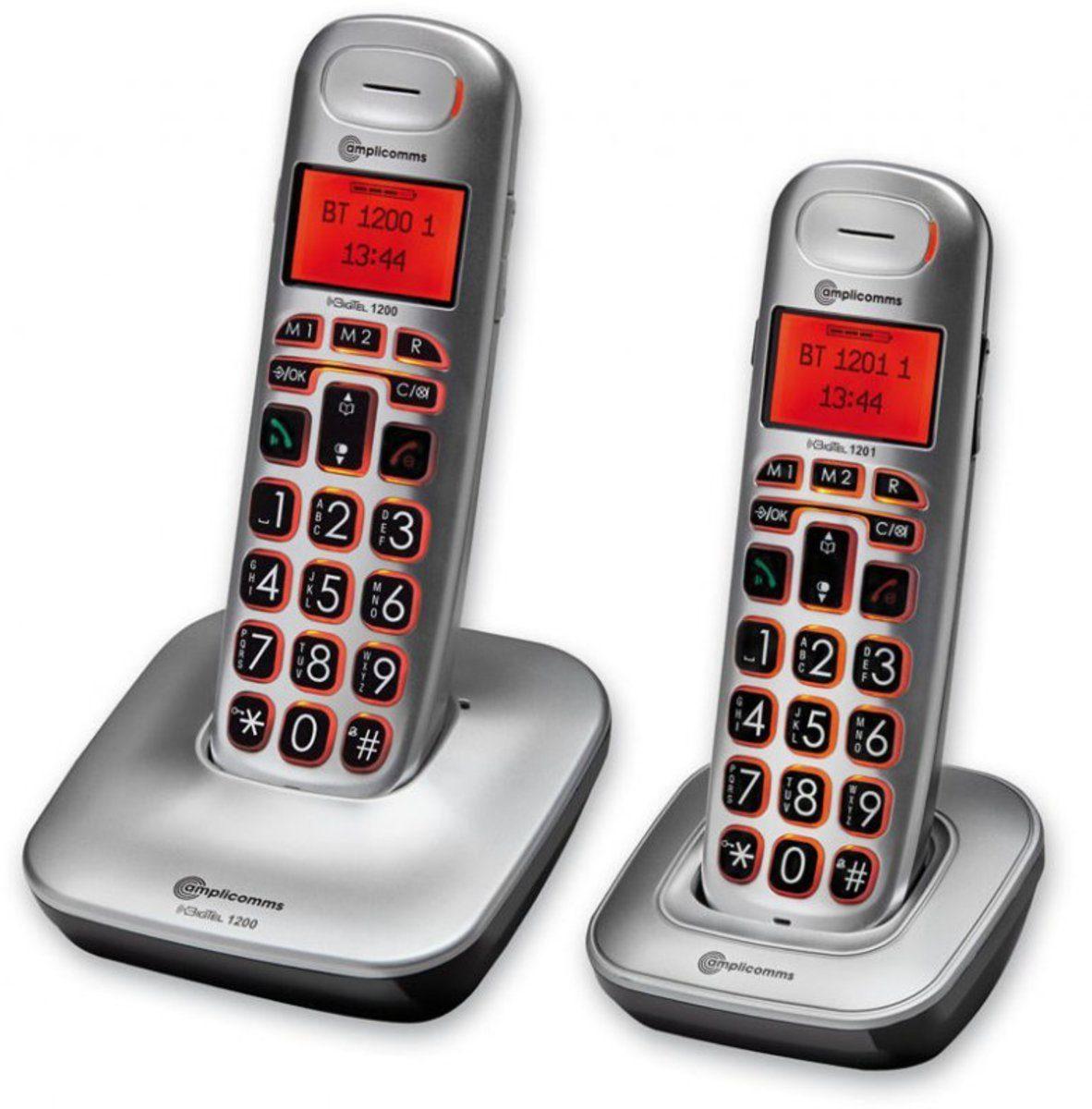 amplicomms Telefon analog schnurlos »BigTel 1202«