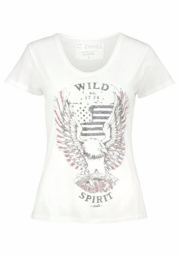 Zhrill T-Shirt TRISH, mit Inside-Out-Print