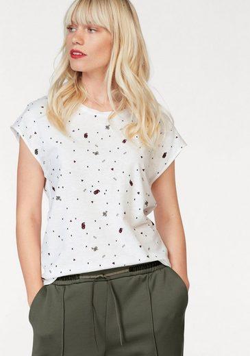 Garcia T-Shirt, mit besticktem Allover-Design