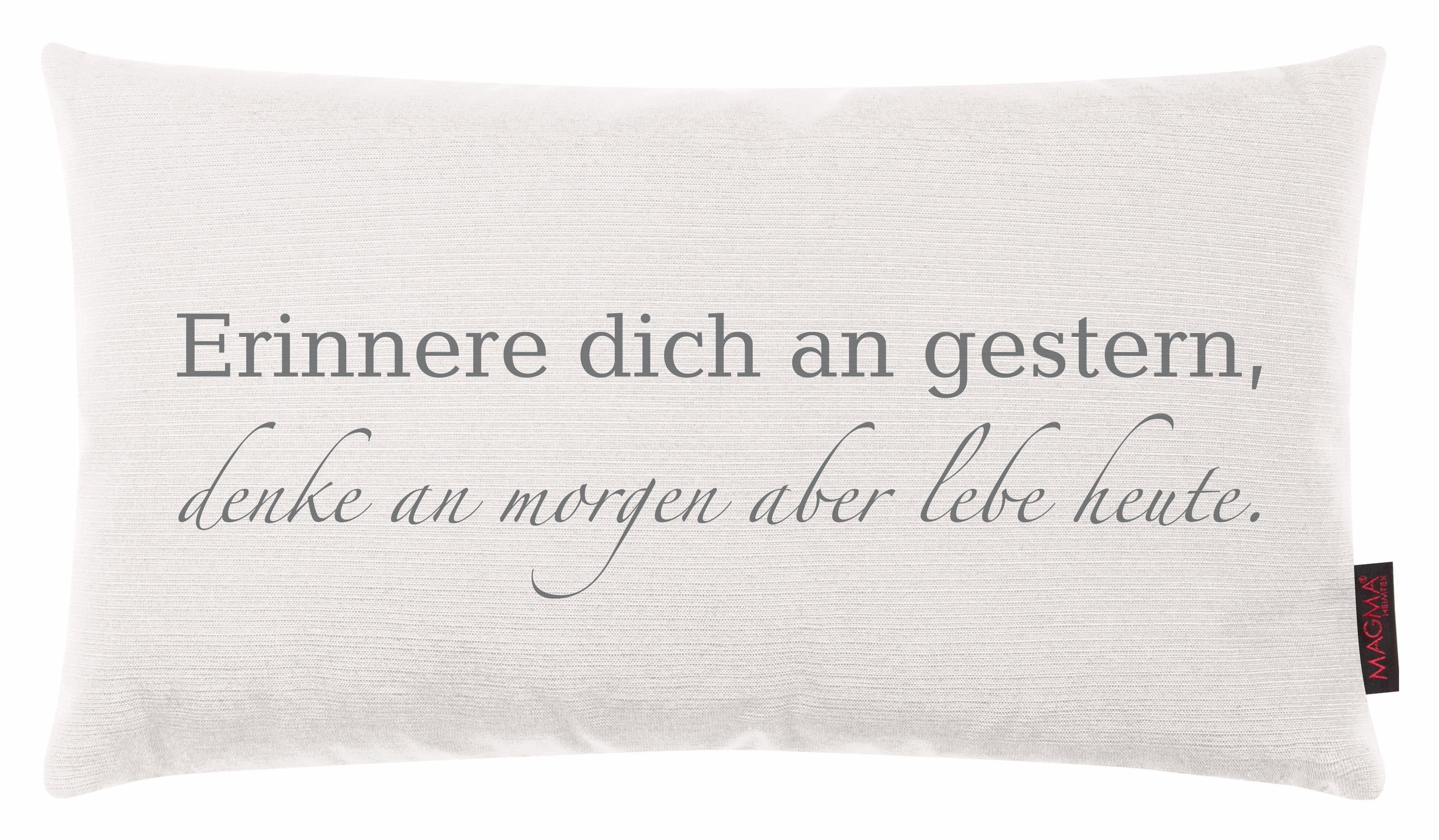 Kissen, Magma Heimtex, »Erinnere dich an gestern«, mit Schriftzug