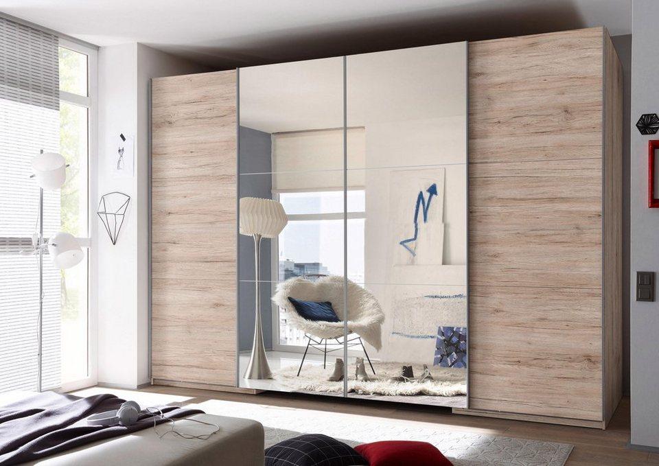 Schwebetürenschrank begehbar, mit Spiegeltüren   OTTO