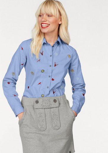 KangaROOS Hemdbluse, im Wiesn Look, mit kleinen Stickereien