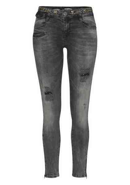 Zhrill Destroyed-Jeans »MIA BOLLY«, mit angesagten Nieten- & Perlendetails