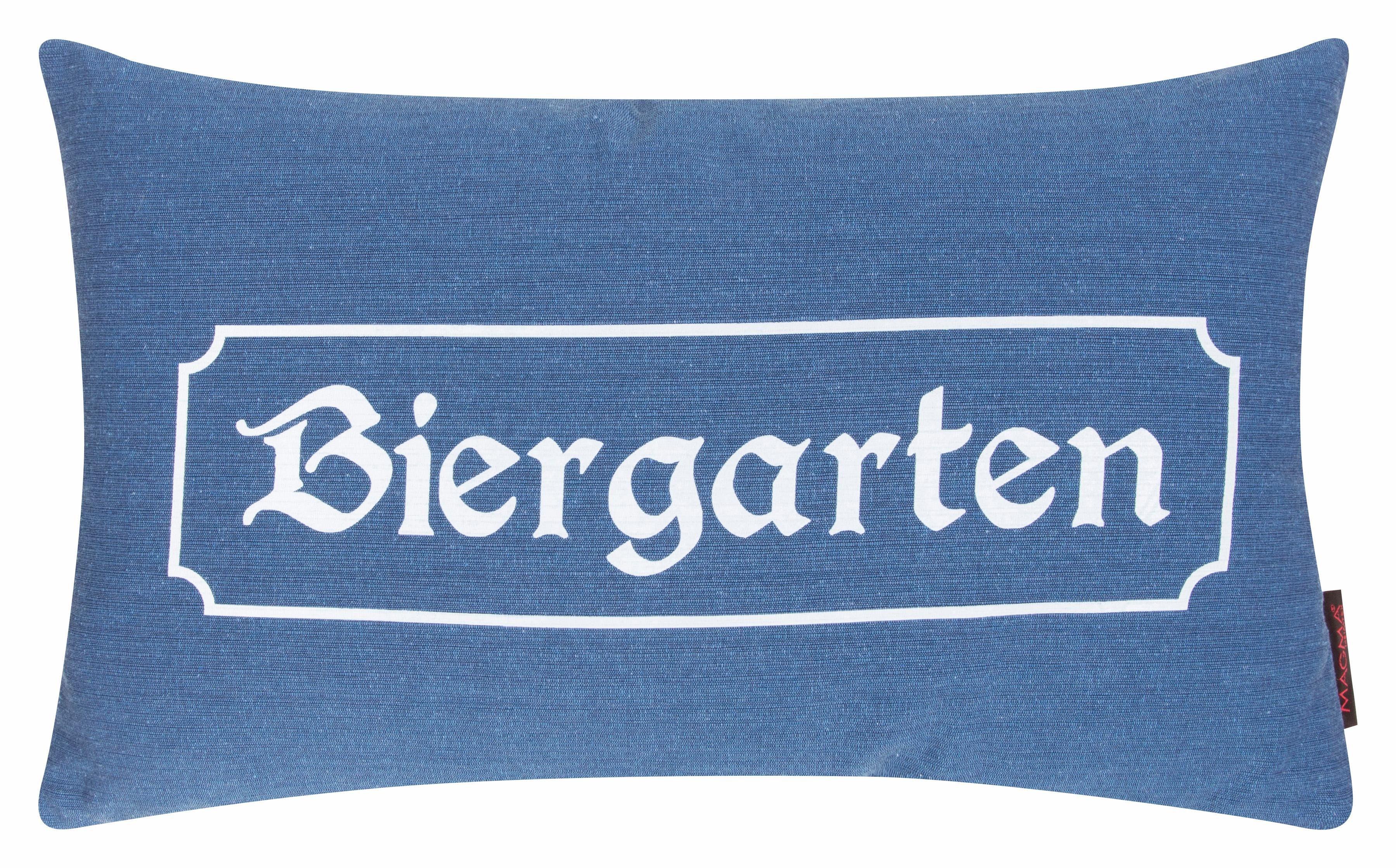 Kissen, Magma Heimtex, »Biergarten«, mit Biergarten Schriftzug