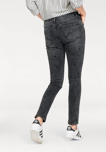 Garcia Skinny-fit-Jeans CELIA SUPER SLIM, mit Allover-Stickerei