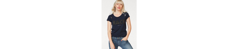Le Temps Des Cerises T-Shirt GLITTER, mit Print aus Glitzersteinen