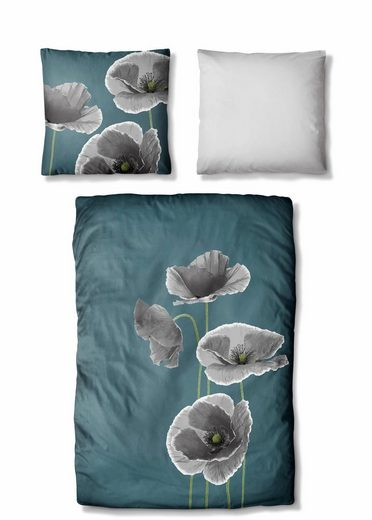bettw sche auro hometextile floren mit blumen muster online kaufen otto. Black Bedroom Furniture Sets. Home Design Ideas