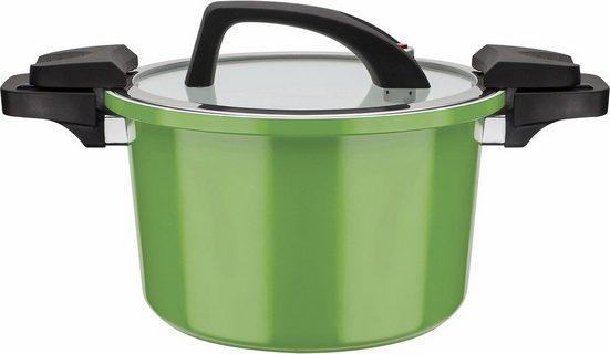GSW Dampfgartopf »ceramica green«, Aluminium, (1-tlg), Induktion
