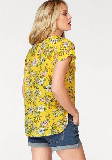 Vero Moda Shirtbluse JENNA, in knalliger Trendfarbe