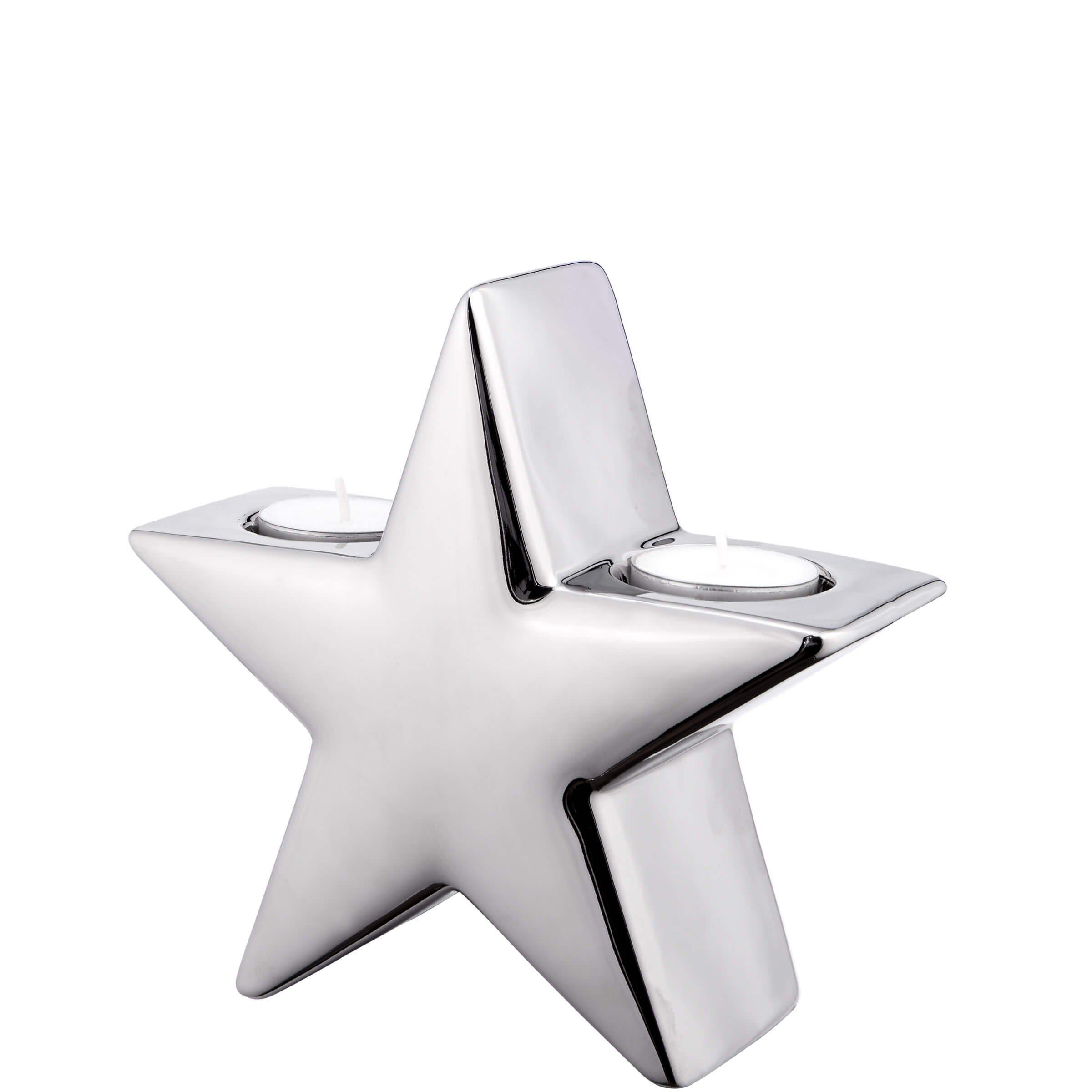 BUTLERS SILVER STONE »Teelichthalter Stern klein«