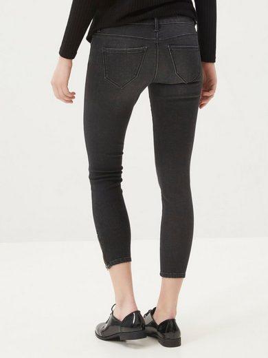 Vero Moda Five LW Skinny-Fit-Knöcheljeans mit Reißverschluss am Knöchel