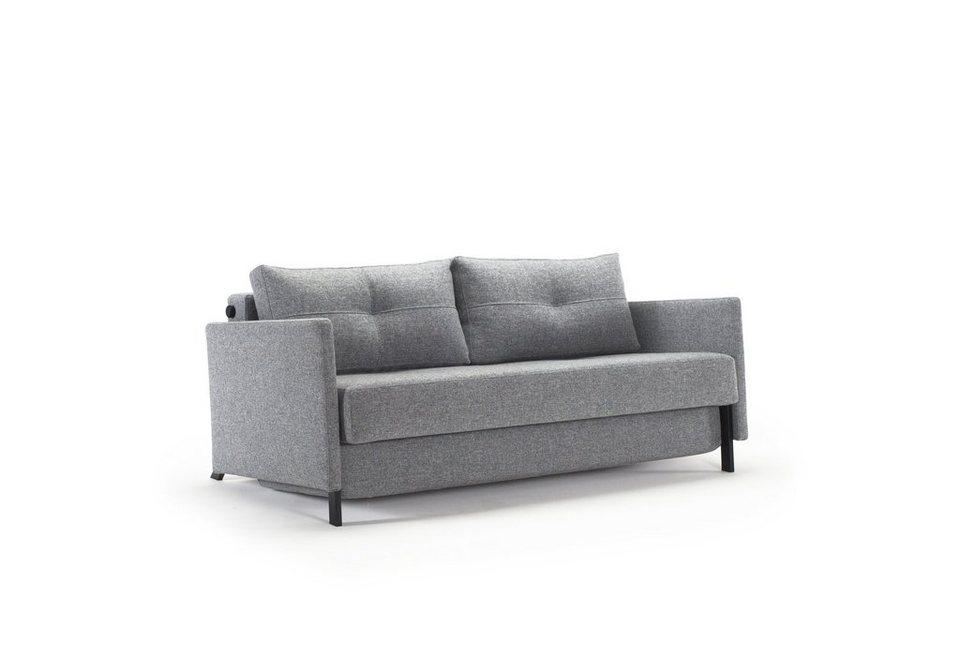 innovation schlafsofa im scandinavian design mit armlehnen cubed online kaufen otto. Black Bedroom Furniture Sets. Home Design Ideas