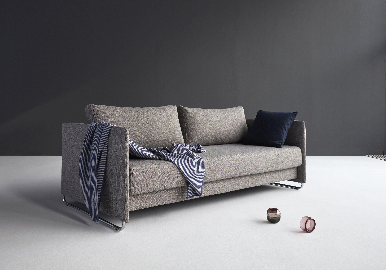 Innovation Schlafsofa im Scandinavian Design mit Chrom Beinen »Upend«