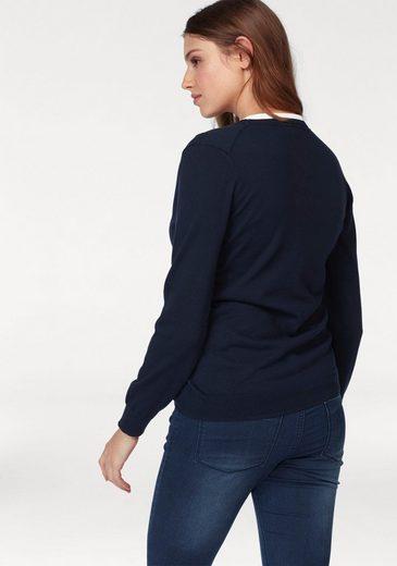 Lacoste Cardigan, mit kleinem Brustlogo