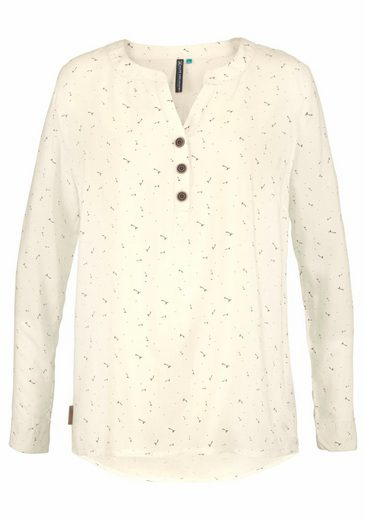 Alife And Kickin Long Sleeve Blouse Daisy, In Sweet Allover-print
