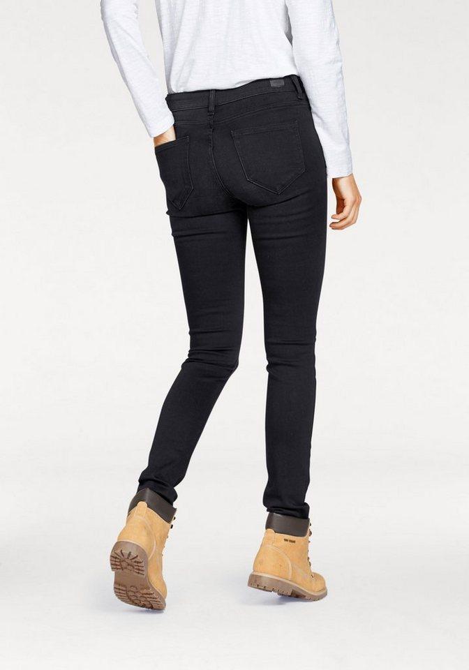 Damen COLORADO DENIM Röhrenjeans Lana mit dekorativen Ösen an den Taschen schwarz | 04058844180330