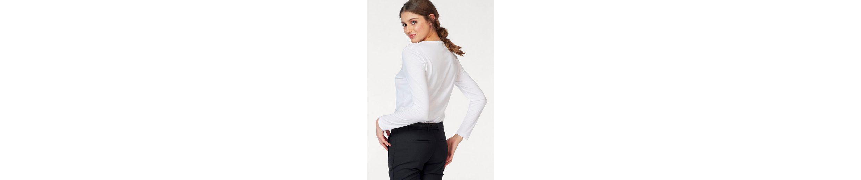 Lacoste Langarmshirt, mit typischem Brustlogo