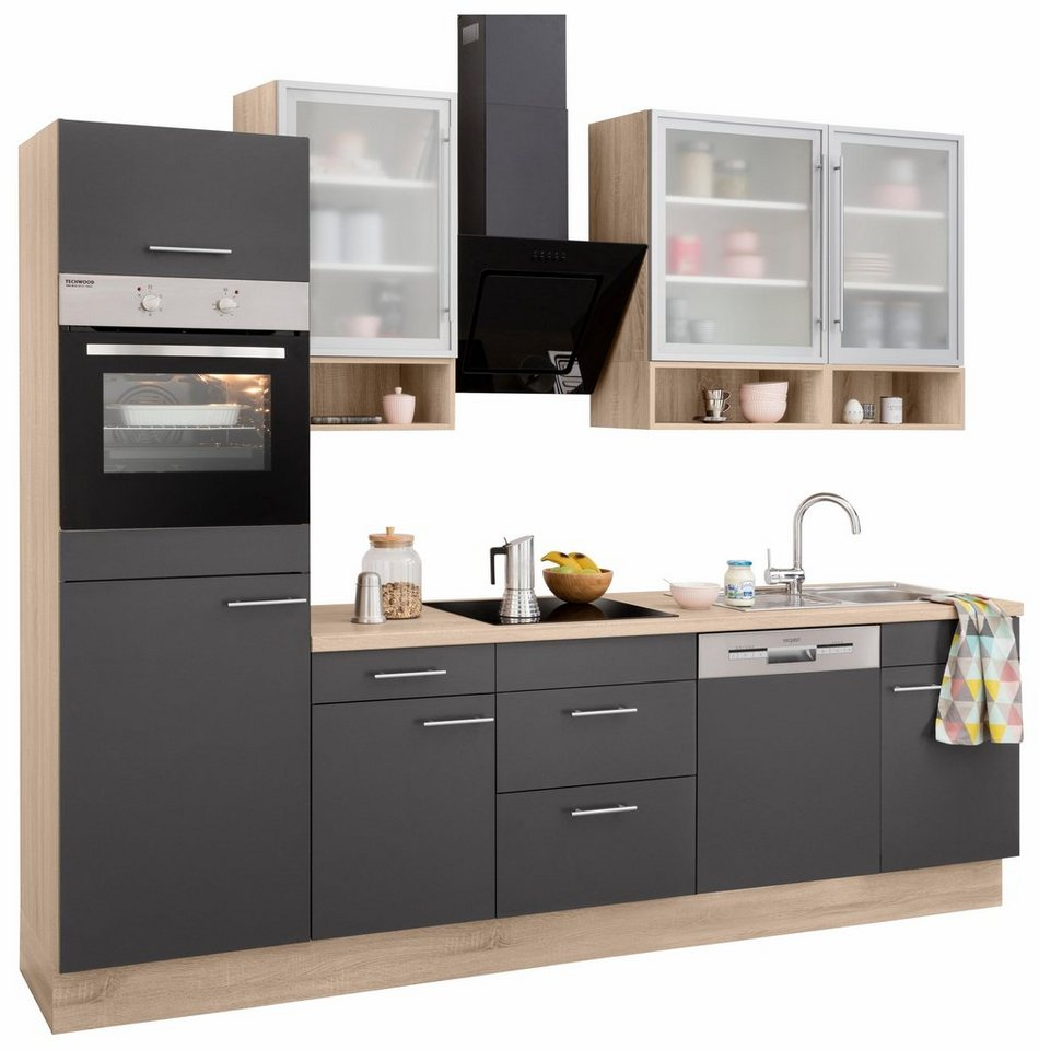 optifit k chenzeile mit e ger ten aue breite 280 cm online kaufen otto. Black Bedroom Furniture Sets. Home Design Ideas