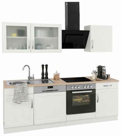 k chenzeilen mit ger ten. Black Bedroom Furniture Sets. Home Design Ideas
