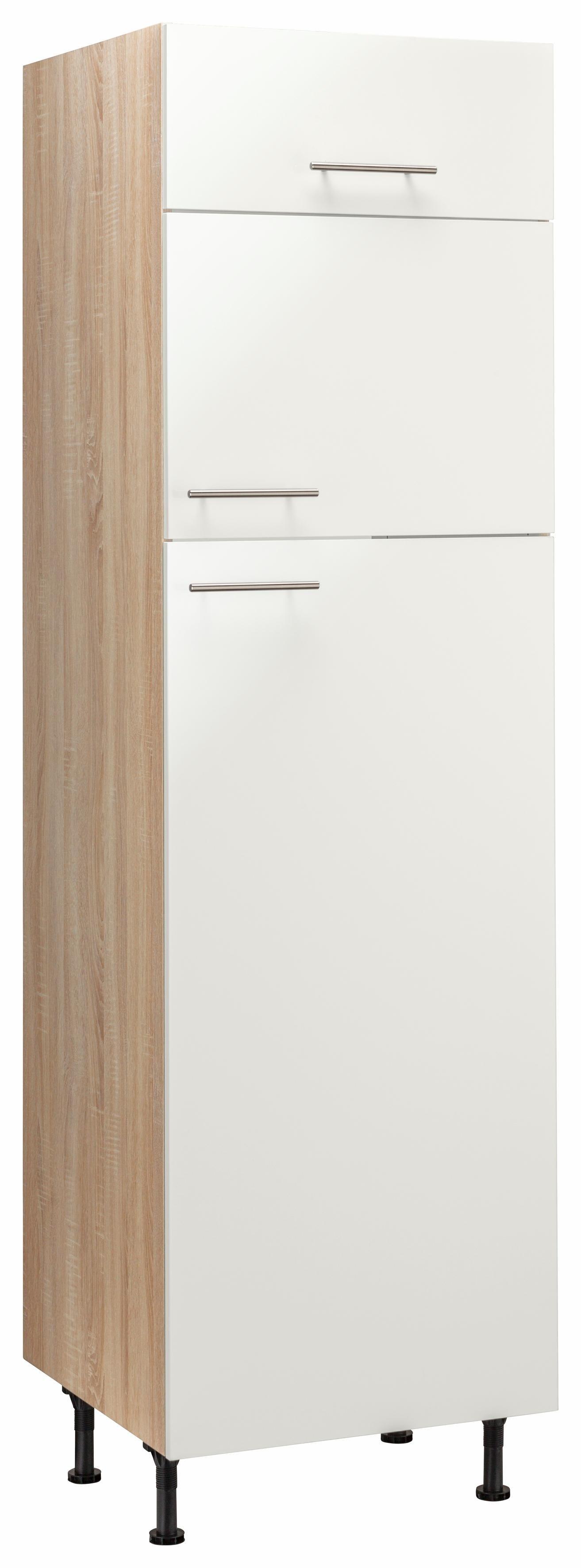 OPTIFIT Kühlumbauschrank »Aue« | Küche und Esszimmer > Küchenschränke > Umbauschränke | Hell - Weiß - Matt - Glanz | Eiche - Edelstahl - Melamin | OPTIFIT