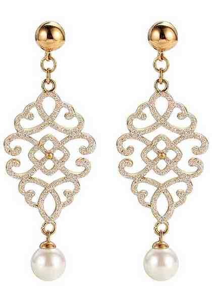 Firetti Paar Ohrstecker mit synthetischer Perle