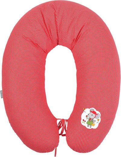 SEI Design Stillkissen »Maus rot«, mit hochwertiger Stickerei