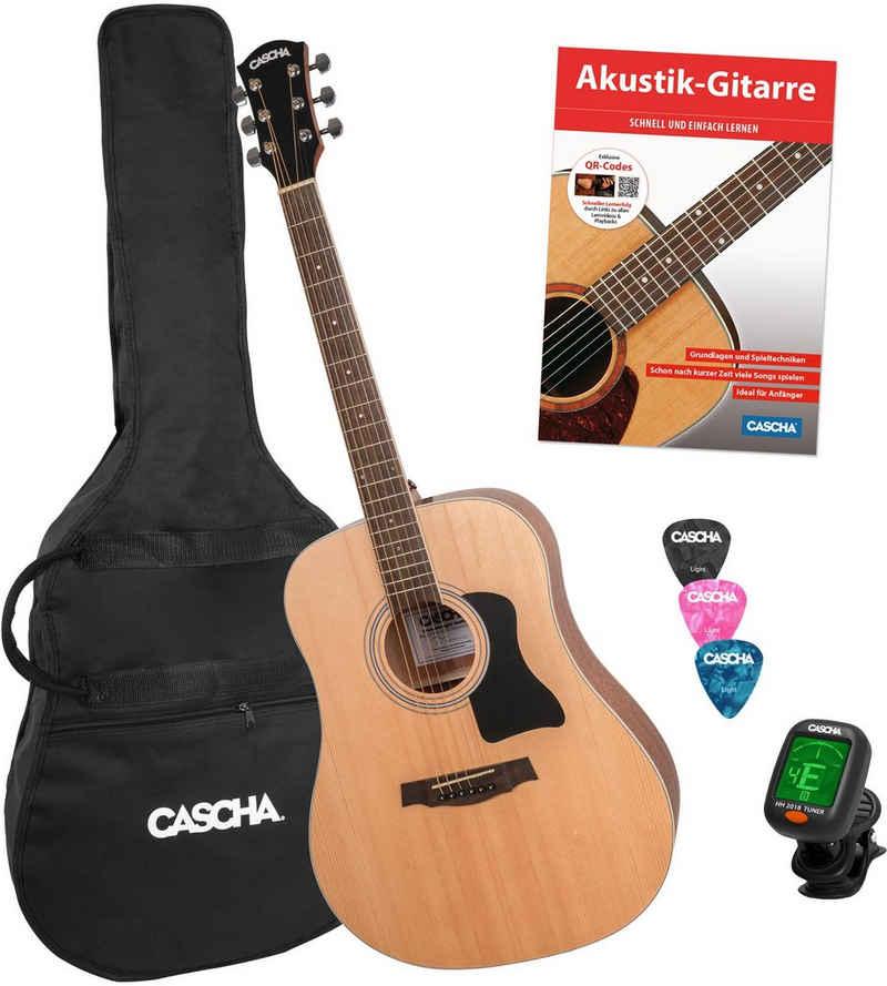 Cascha Westerngitarre »Stage Series«, inkl. Gitarrenschule und Stimmgerät