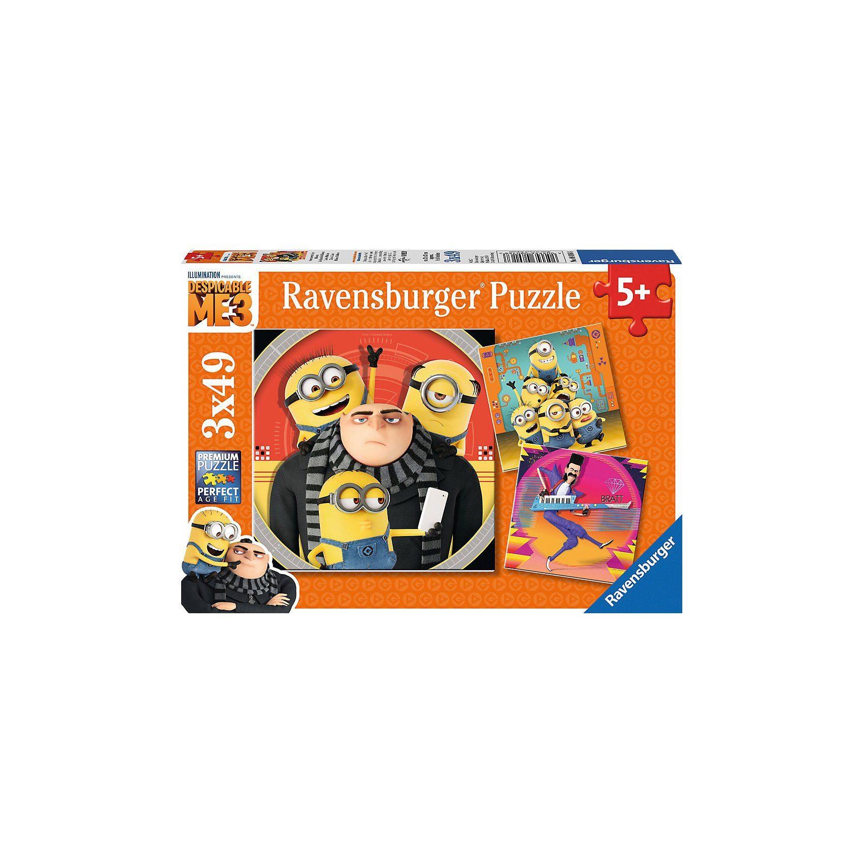 Ravensburger Puzzleset 3 x 49 Teile Minions Ich - einfach unverbesserlic