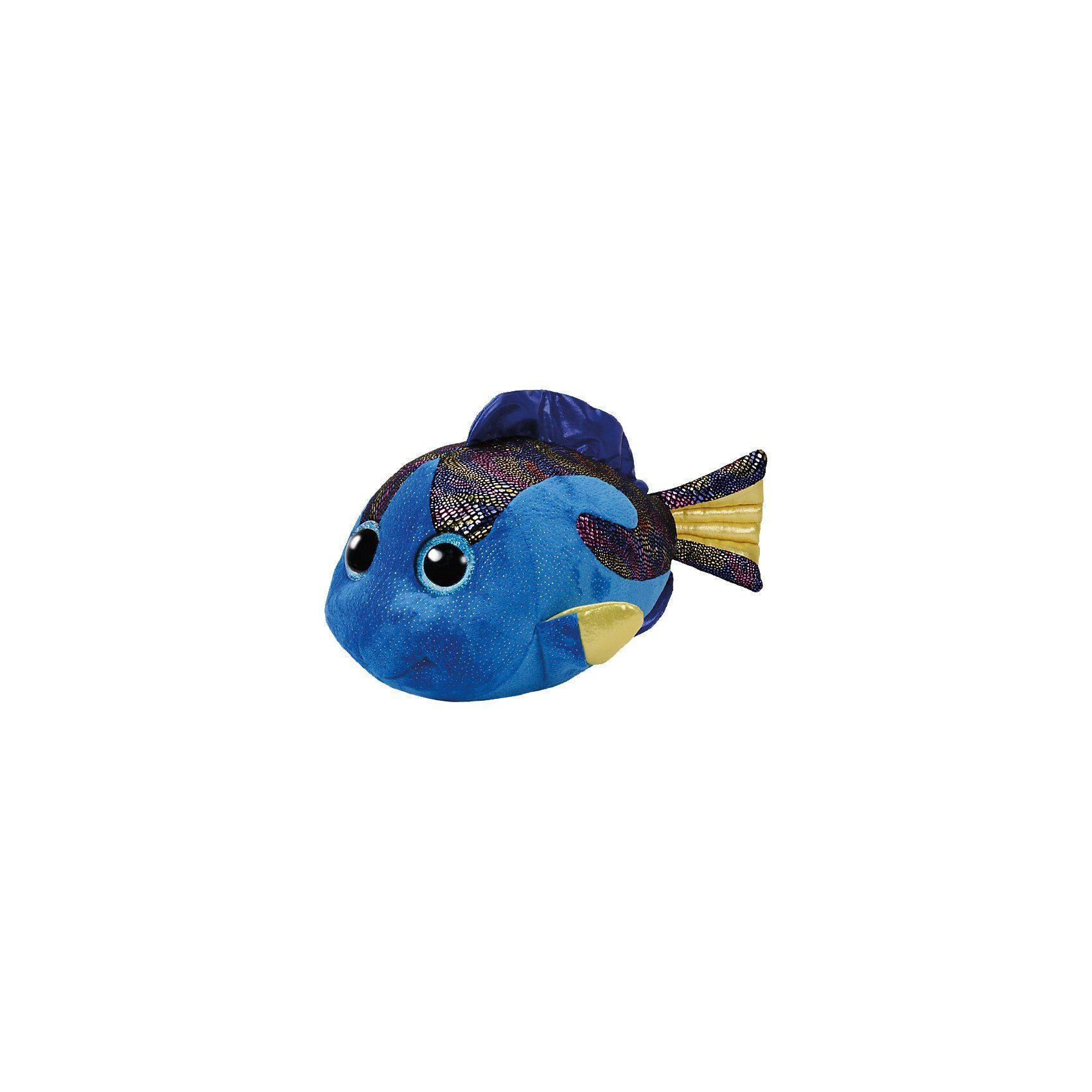 Ty Fisch Aqua blau, 42 cm