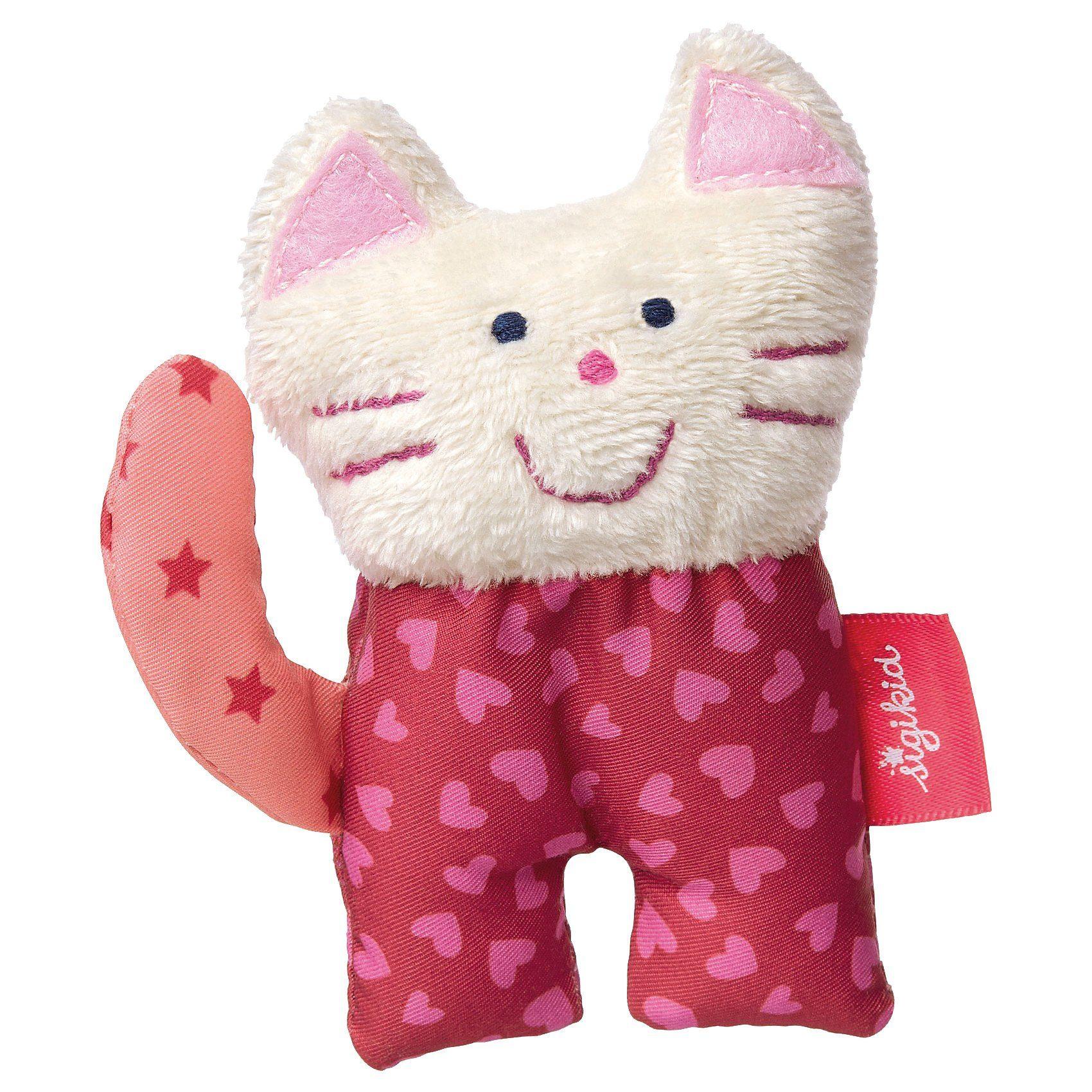 sigikid Mini-Greifling Katze, Red Stars (41685)