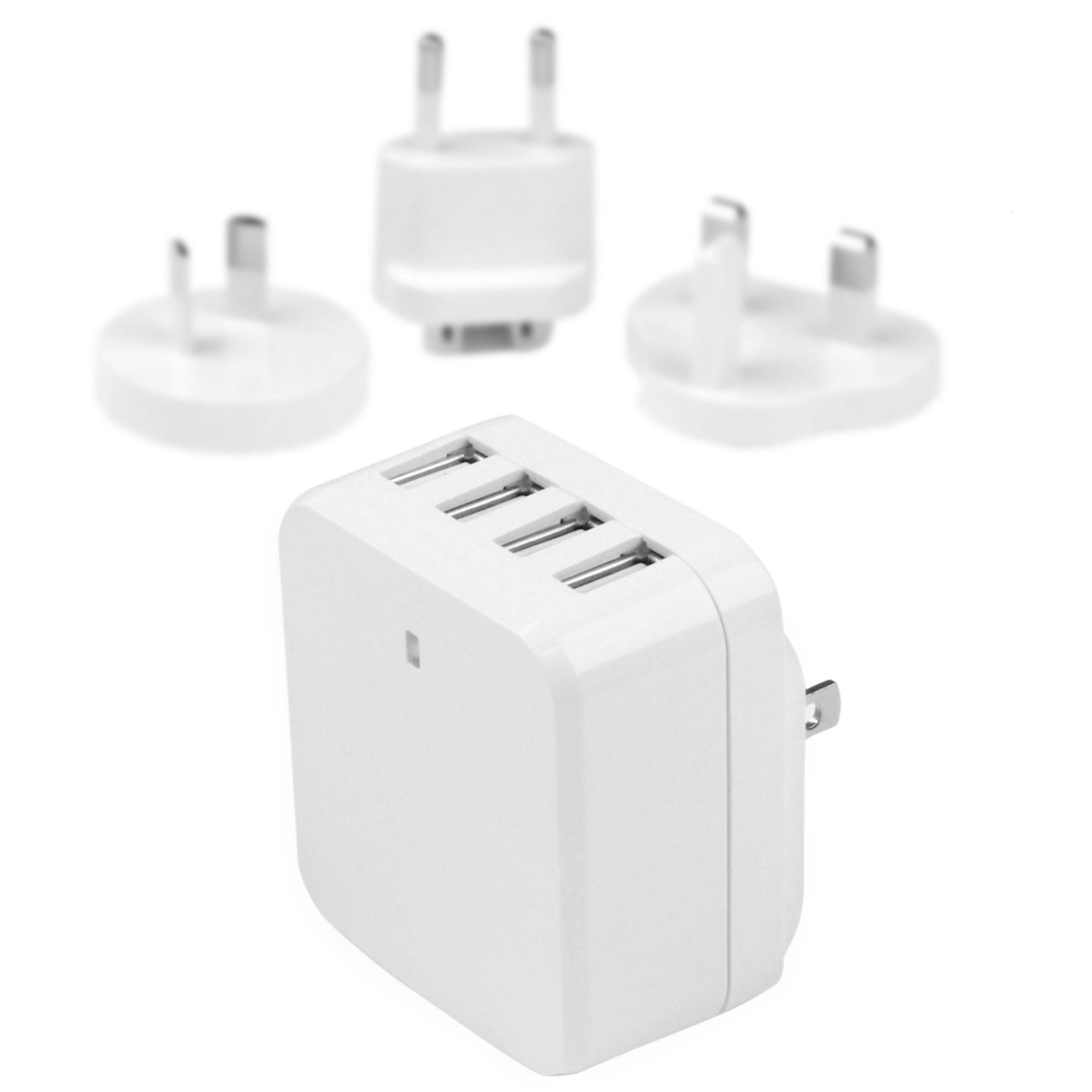 StarTech.com USB »4 Port USB Ladegerät - Reiselader - Weiß«