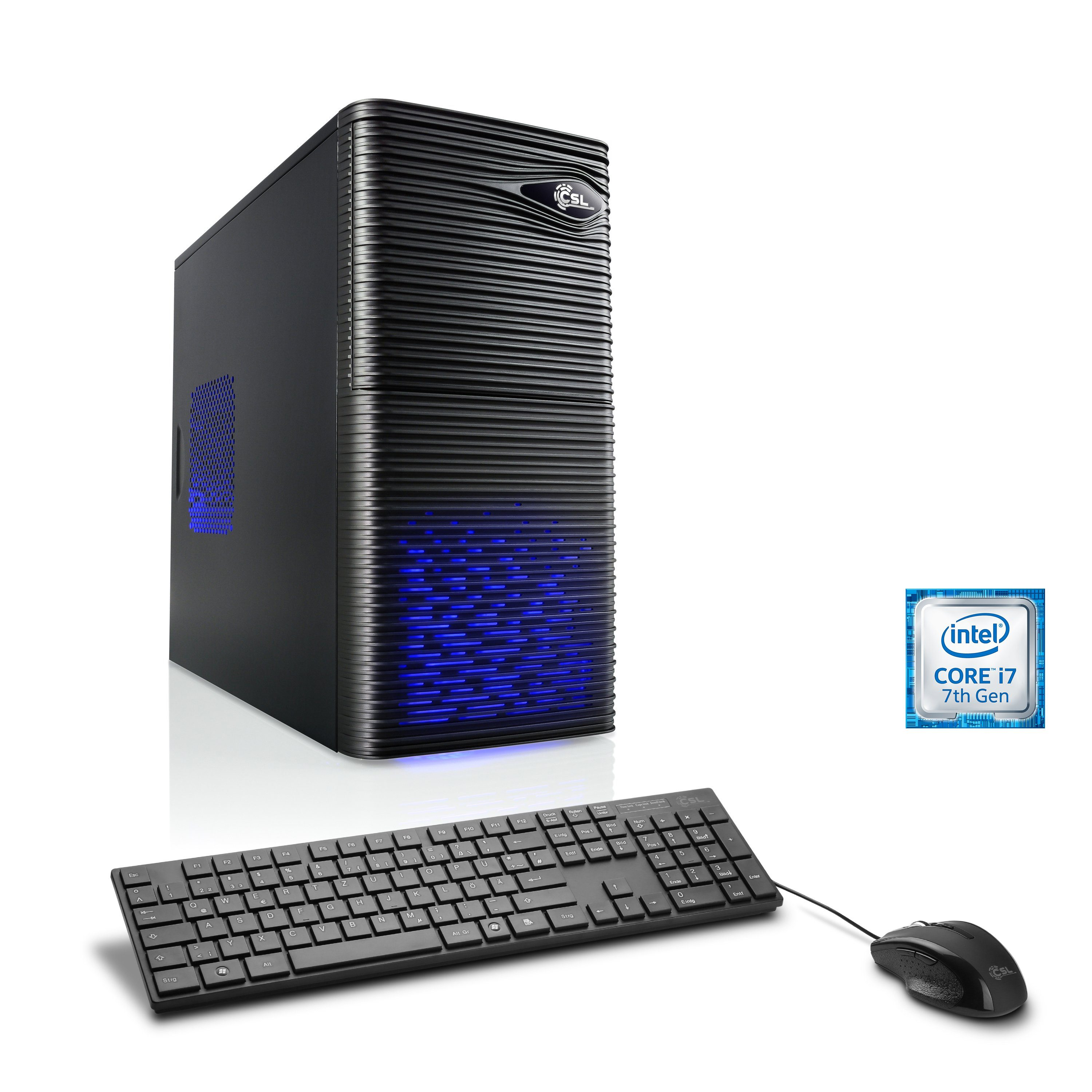 CSL Gaming PC | Core i7-7700 | GeForce GTX 1050 Ti | 16 GB RAM | SSD »Speed T7573 Windows 10 Home«