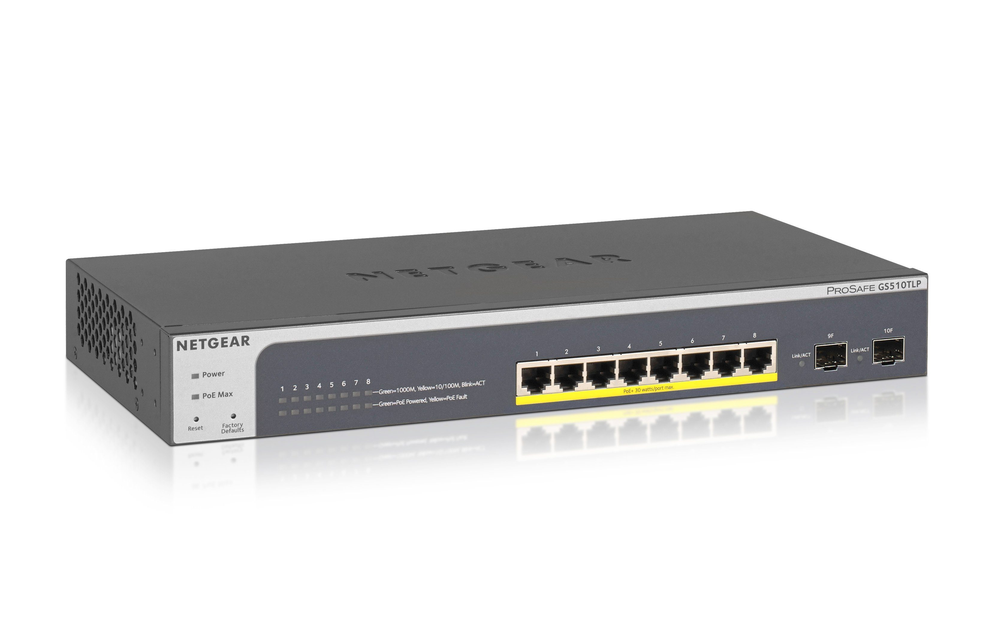 Netgear Switch »GS510TLP 8-PORT POE+ GB WEB Managed«