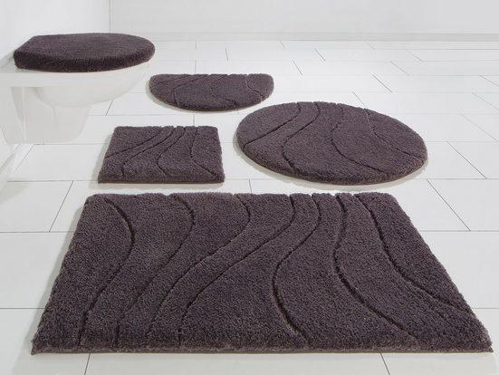Badematte »Lola« Home affaire, Höhe 22 mm, rutschhemmend beschichtet, fußbodenheizungsgeeignet, Hoch-Tief