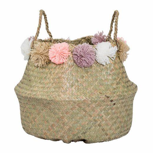 Bloomingville Korb mit dekorativen Bommeln