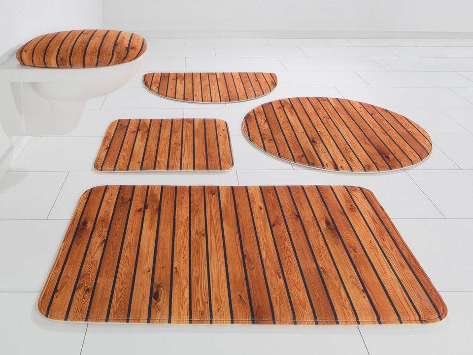 Badematte »Holzoptik« my home, Höhe 14 mm, rutschhemmend beschichtet online  kaufen   OTTO