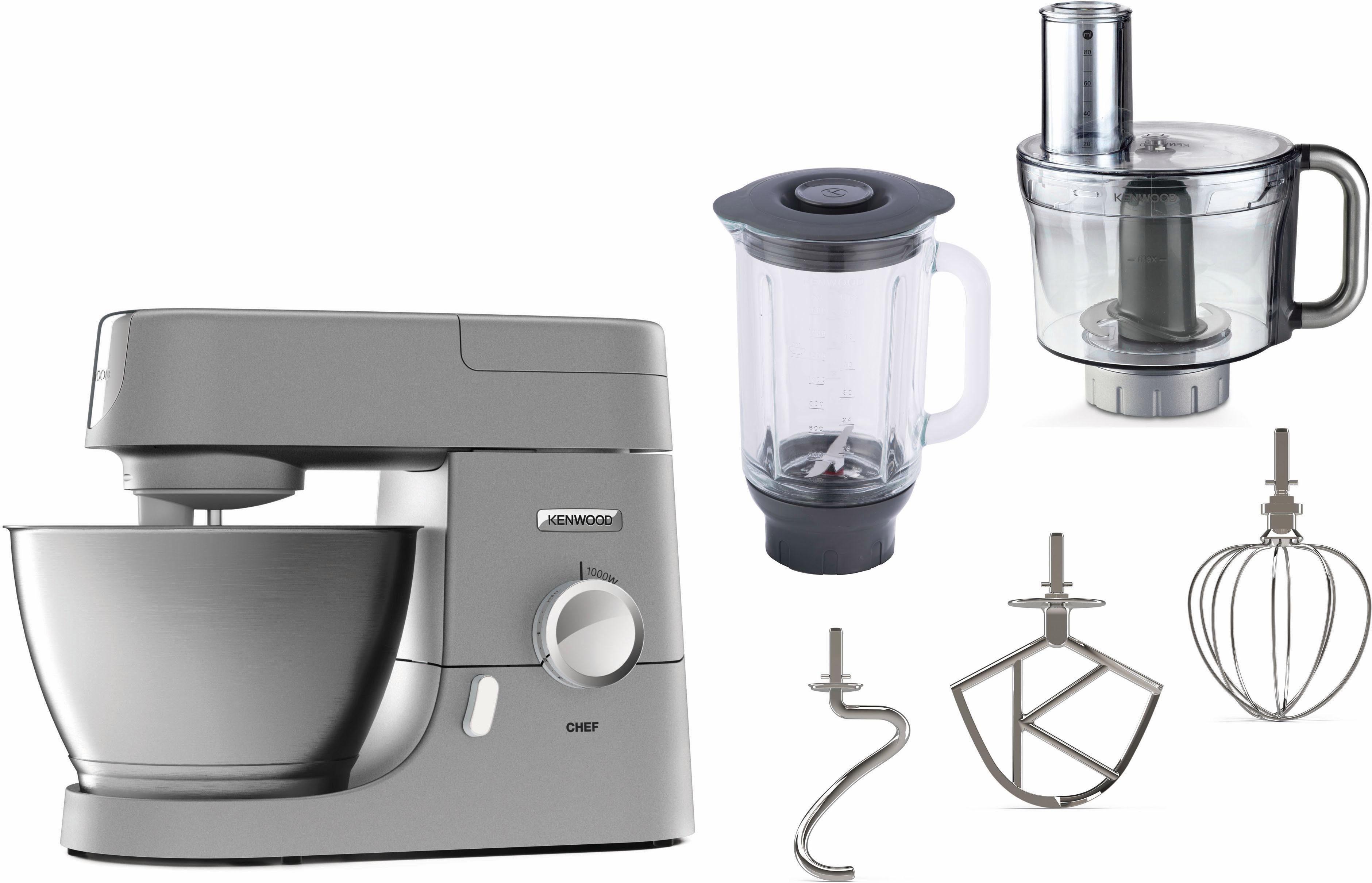 Kenwood Küchenmaschine Chef KVC3150S, 4,6 Liter, 1000 Watt