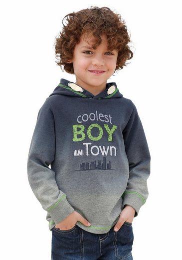 KIDSWORLD Kapuzensweatshirt mit modischem Farbverlauf